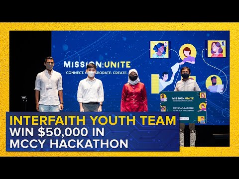 Interfaith Youth Team Win $50,000 at MCCY Hackathon