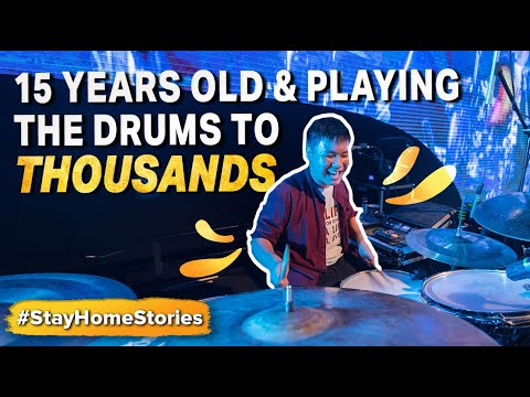 15 Years Old & Playing the Drums to Thousands | Stay Home Stories