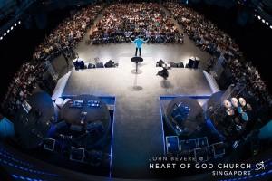 John Bevere preaching at Heart of God Church (Singapore)