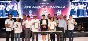 Dr Fatimah Lateef at the launch of the Joint Community Programmes for Geylang Serai IRCC ar Heart of God Church (Singapore)