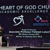 Minister of Parliament Associate Prof Fatimah Lateef speaking at the Heart of God Church (Singapore) Academic Excellence Weekend