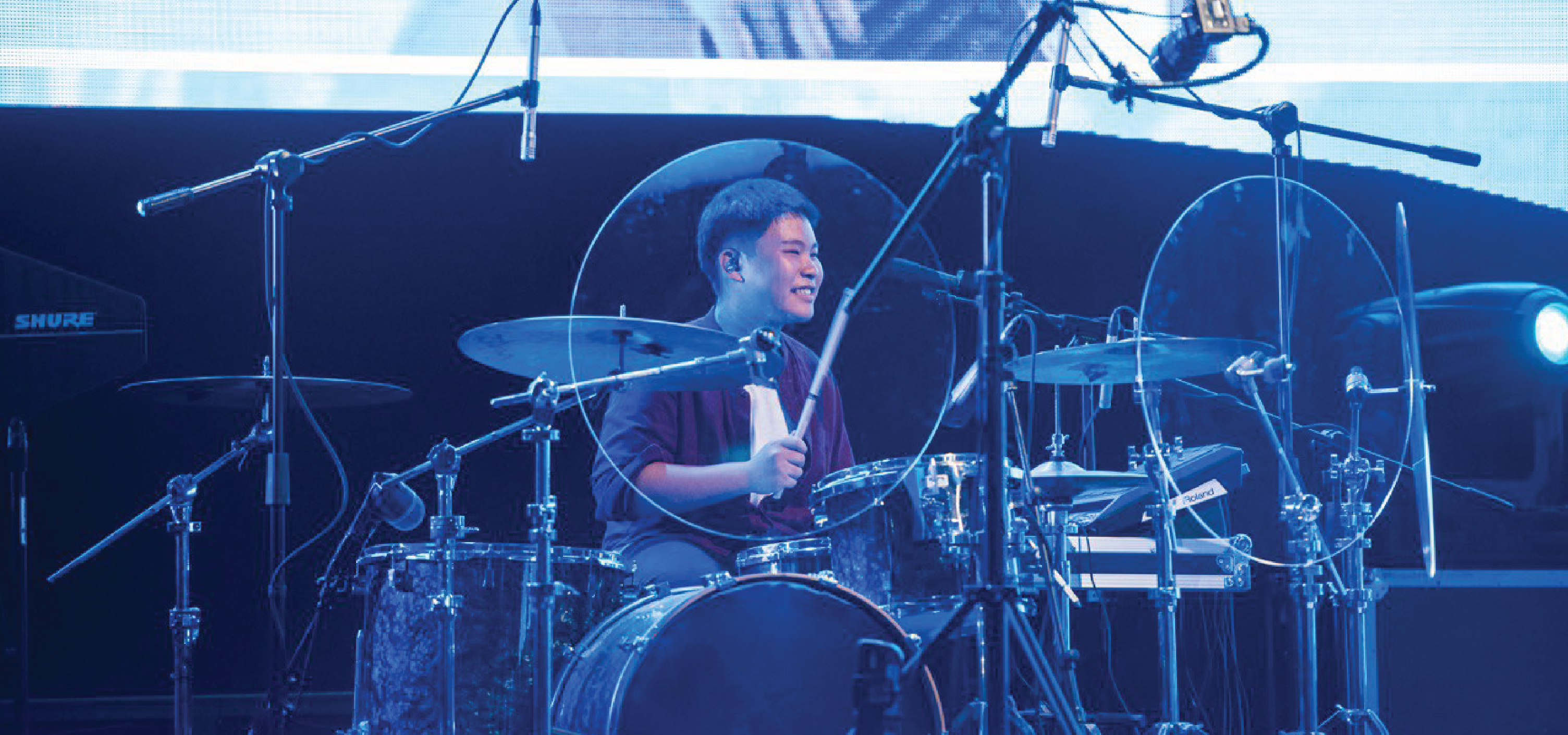 Meet Javier. He's Now the Youngest Drummer in Our Church!