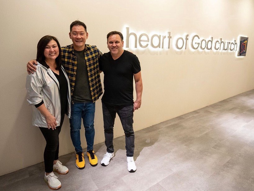 Matt Redman with Pastor Tan Seow How and Pastor Cecilia Chan – Heart of God Church (Singapore)