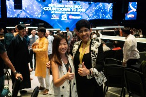 Dr Fatimah Lateef at Geylang Serai Inter-Racial and Religious Confidence Circle 2018 Countdown held in Heart of God Church (Singapore)