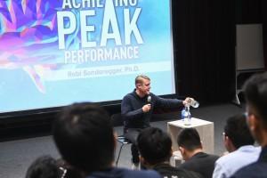 Dr Robi Sonderegger speaking in one of Heart of God Church (Singapore)'s university events