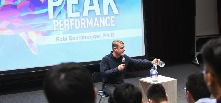 Dr Robi Sonderegger speaking in one of Heart of God Church (Singapore)'s university events