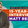15 Year Olds at Heart of God Church (Singapore) interview Matt Redman
