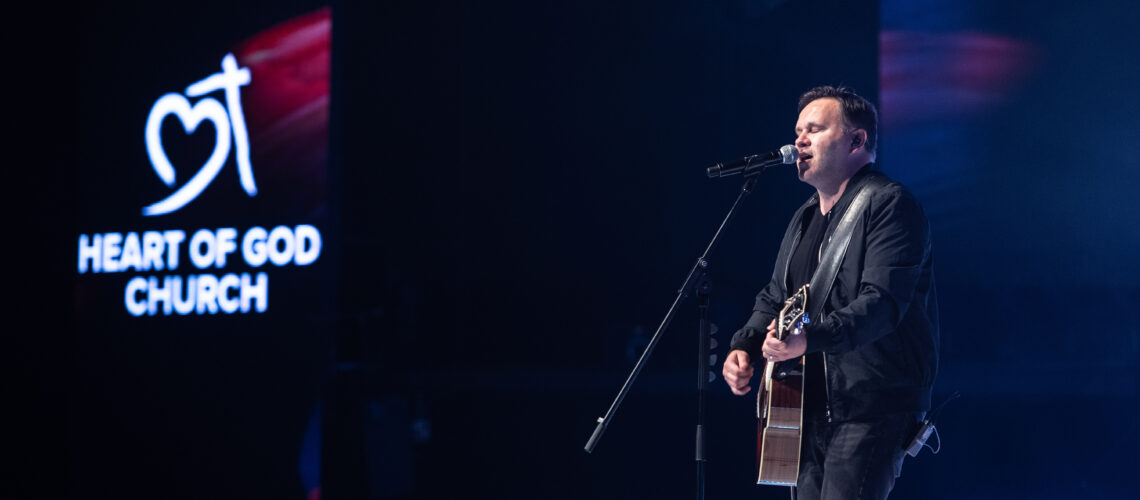 Matt Redman recording 'The Same Jesus', a song from his latest album titled Let There Be Wonder in Heart of God Church