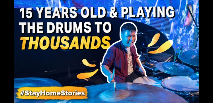 15 Years Old And Playing the Drums To Thousands